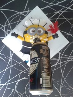 French maid minion Guinness gravity cake :)