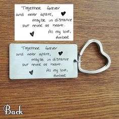 Customized Keychain For Him/Her – Engraved Giftsly All rights reserved Boyfriend Gift Basket, Unique Photo, Shape Patterns, Custom Photo, Fathers, Lettering, Personalized Items, Words, Couple Ideas