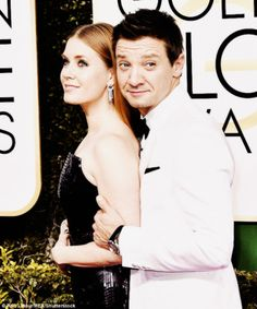 Jeremy Renner and Amy Adams at the 74th Annual Golden Globe Awards at The Beverly Hilton Hotel on January 8, 2017 in Beverly Hills