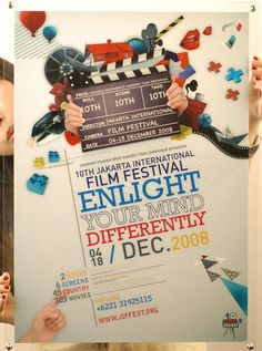 poster - filme festival - enlight your mind differently - good idea for train crawl invite