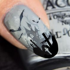 Awesome stamping nail art vernis polish moyou uber chic bundle monster OPI zoya animal f. Moyou Stamping, Nagel Stamping, Stamping Nail Art, Nail Stamping Designs, Geometric Artists, Geometric Nail Art, Nail Art Halloween, Halloween Nail Designs, Nail Art Grunge