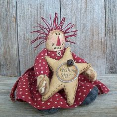 Country Primitive Wishing Star Raggedy by WanderingWhimsies