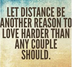 let us not distance tear us apart... love u asawa q..