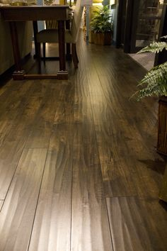 You won't believe its laminate. This 12.3mm rustic hand scrapped laminate has the closest luster and shine as real hardwood floors. The Albion Collection by Knoa's Flooring.