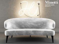 Minotti ASTON Sofa by EurekaDesigns on @creativemarket