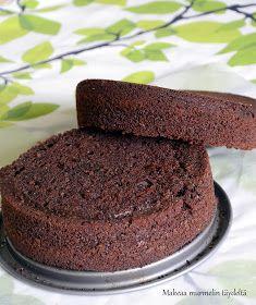 Makeaa murmelin täydeltä: Mehevä suklaakakkupohja