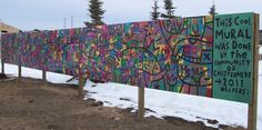 Chestermere community mural, 115 members of the public came together to make art and make this space look great. interactive murals, collaborative community projects in Calgary. Public Spaces, Public Art, Wedding Ideas Calgary, Dean Stanton, Collaborative Art, Close To Home, Community Events, Make Art, Team Building