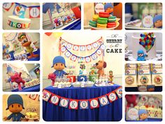 Malaysia Party Planner Dessert Table Cake Designer: Nikolas' Pocoyo Dessert Table & Party Planning
