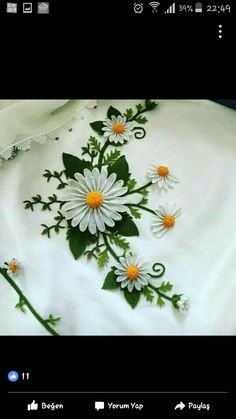 Needle Lace, Diy Crafts, Elsa, Embroidery, Flowers, Embroidered Towels, Satin Ribbons, Embroidery Ideas, Tablecloths