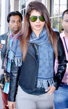 Priyanka Chopra looked cool as a cucumber at Jodhpur Airport. #Bollywood #Style #Fashion #Beauty