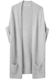 drape neck pocket cardigan ++ organic by john patrick