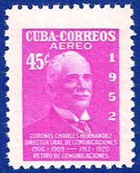 Cuba C70 Stamp - Colonel Sandrino Stamp - C CU C70-2 MNH