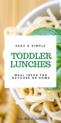 Toddler meals 655555289497779075 - Quick and easy toddler lunch ideas for home or daycare. These simple food ideas are low prep and easy to prepare while offering lots of nutrition! Source by twinmomrefreshed Healthy Toddler Lunches, Easy Lunches For Kids, Healthy Lunches For Work, Healthy Toddler Meals, Toddler Snacks, Kids Meals, Work Lunches, Healthy Meals, Family Meals