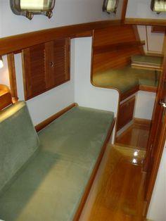 New Ultrasuede sailboat cushions