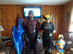 Mutant and proud. Mystique and Magneto, with past and future Wolverine.