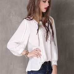 2017 Brand Summer Women Blusas Vintage Boho Ethnic Embroidery Women Cotton Blouse Shirts Tops Tunic White Vintage Casual Shirt