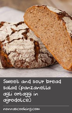 Sweet and sour bread salad (panzanella agli ortaggi in agrodolce) Hake Recipes, Dishes Recipes, Tasty Dishes, Food Dishes, Bread Recipes, Canned Sweet Potato Recipes, Swede Recipes, Canning Sweet Potatoes, Cold Lunch Recipes