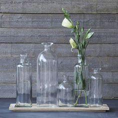 Glass Vase Tray Set