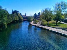 Boa noite :D O rio Vez em <3 Arcos de #valdevez <3 translúcido - http://ift.tt/1MZR1pw -