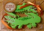 Alligator cookies by Edible Impressions - www.edibleimpressions.net