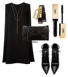 """""""Goldy"""" by son9o on Polyvore featuring McQ by Alexander McQueen, Lana, Yves Saint Laurent, Balenciaga and Hermès"""