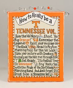 Take a look at this Tennessee 'How To' Beaded Canvas by Time to Tailgate: College Colors on #zulily today!