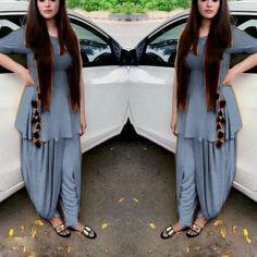 shop. save.smile Salwar Designs, Patiala Suit Designs, Silk Saree Blouse Designs, Indian Fashion Dresses, Indian Designer Outfits, Stylish Suit, Stylish Outfits, Fashion Pants, Fashion Outfits