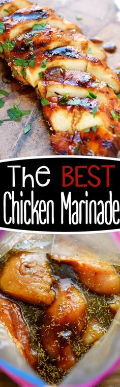 Look no further for the Best Chicken Marinade recipe ever! This easy chicken marinade recipe is going to quickly become your favorite go-to marinade! This marinade produces so much flavor and keeps the chicken incredibly moist and outrageously delicious -