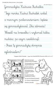 BLOG EDUKACYJNY DLA DZIECI Montessori, Literacy, Classroom, Education, Words, Children, Speech Language Therapy, Literatura, Activities