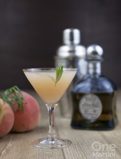 white peach tequila cocktail