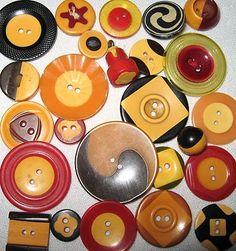 Vintage Old Bakelite Cookie Buttons Lot Ying Yang Antique Applesauce Carved | eBay