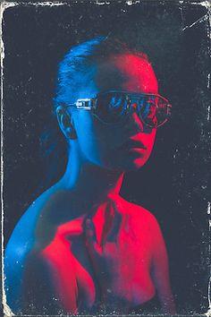8bitsunset:  Photography & Editing- Nick Fancher Model- Allison Bankieris  quite 80s like cyberpunk-ish photography art