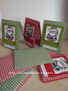 Set of 6 Handmade Christmas Cards With Matching Envelopes