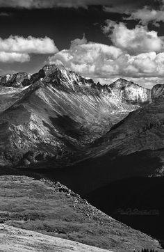 Longs Peak, Colorado  Longs Peak meets the heavens above in Rocky Mountain National Park, Colorado