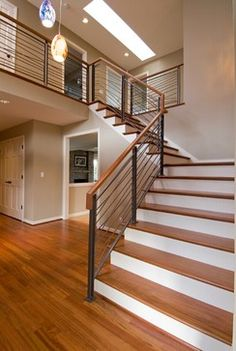 Railings On Pinterest Wood Railing Stair Railing And Railing Design