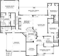 Colonial Floor Plan First Floor 055D-0210  from houseplansandmore.com
