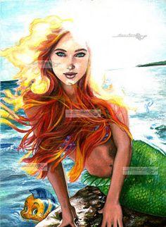 Disney Fan Art: Ariel. One of my faves!