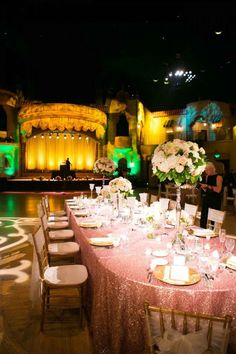 Elegant, pink glittery reception  The Wedding Story of Josh and Mallory Kuiper | WeddingDay Magazine
