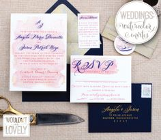celebrate your day with a beautiful champagne gold blush pink and navy wedding invitation set this design is perfect for blush weddings pinterest - Navy And Blush Wedding Invitations