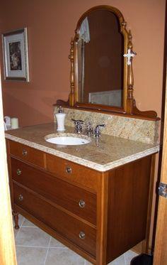 Custom Bathroom Vanities London Ontario before & after: dresser turned bathroom vanity — flickr find