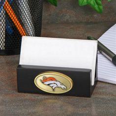 Denver Broncos Business Card Holder - Black - Official Denver Broncos Shop