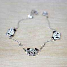 $1.61 Korea Fashion Sweet Style Three Little Panda Bracelet
