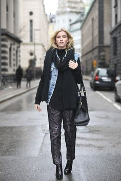 yessum that outfit is brills. #ElsaEkman #offduty in Stockholm.