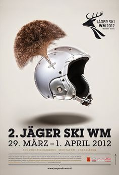Jäger Ski WM Plakat | Design: zurgams Corporate Design, Ski Wm, Plakat Design, Movie Posters, Tourism, Communication, Film Poster, Brand Design, Billboard