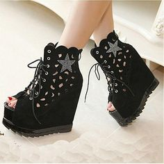 Womens Shoes, Womens Boots, Sexy Black Suede Round Closed Toe Stiletto Super High Heel Boots