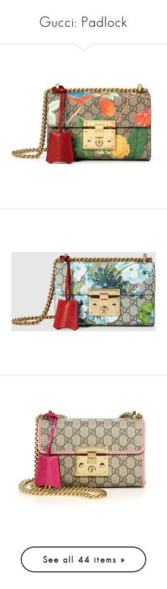 """""""Gucci: Padlock"""" by livnd ❤ liked on Polyvore featuring bags, handbags, shoulder bags, gucci, purses, women, gucci handbags, brown shoulder bag, leather man bags and hand bags"""