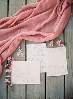 Calligraphy wedding invitation: http://www.stylemepretty.com/canada-weddings/ontario/lincoln/2017/03/29/spring-inspiration-2/ Photography: Julia Park - http://www.juliapark.ca/