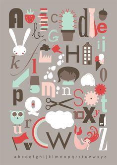 mooie alfabet poster