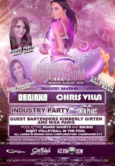 THE FLY – MONDAY Night Industry Pool Party – 08.19.2013