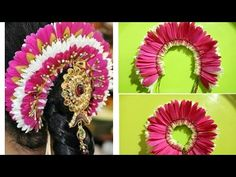Bridal poo Jadai with Gerbera flower🌻🌼 Floral Garland, Flower Garlands, Hair Decorations, Festival Decorations, How To Make Garland, Garland Making, Gerbera Flower, White Bridal, Bridal Flowers